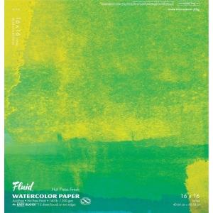 "Hand Book Journal Co.™ Fluid™ Easy-Block™  Hot Press Watercolor Paper 16"" x 16""; Quantity: 15 Sheets; Size: 16"" x 16""; Texture: Hot Press; Weight: 140 lb; (model 851616), price per 15 Sheets pad"