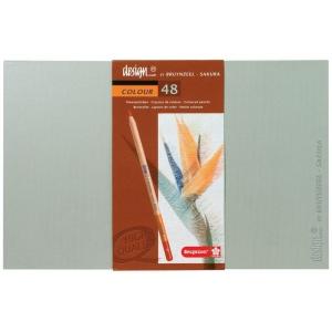 Bruynzeel® Design® Colored Pencil 48-Set; Color: Multi; Lead Size: 3.8mm; Type: Drawing; (model 8805H48), price per set