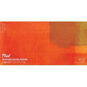 "Hand Book Journal Co.™ Fluid™ Easy-Block™ Cold Press Watercolor Paper 6"" x 12"": 15 Sheets, 6"" x 12"", Cold Press, 140 lb, (model 880612), price per 15 Sheets pad"