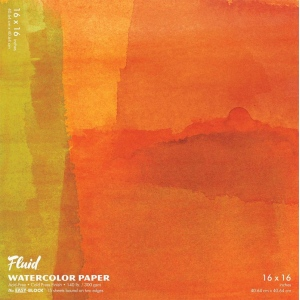 """Hand Book Journal Co.™ Fluid™ Easy-Block™ Cold Press Watercolor Paper 16"""" x 16""""; Quantity: 15 Sheets; Size: 16"""" x 16""""; Texture: Cold Press; Weight: 140 lb; (model 881616), price per 15 Sheets pad"""