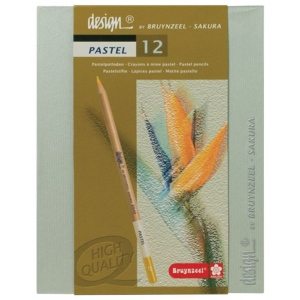 Bruynzeel® Design® 12-Color Pastel Pencil Set; Type: Drawing; (model 8840H12), price per set