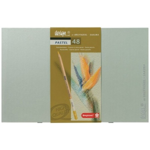 Bruynzeel® Design® 48-Color Pastel Pencil Set; Type: Drawing; (model 8840H48), price per set