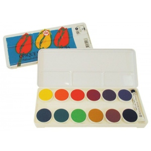 Royal Talens Talens® Opaque Watercolor 12-Color Set; Color: Multi; Format: Pan, Tube; Size: 5 ml; Type: Watercolor; (model 95920012), price per each