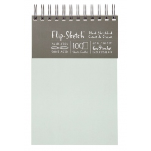 "Hand Book Journal Co.™ Flip-Sketch™ Wire-Bound Sketchbook 6"" x 9"" Portrait Mist: Wire Bound, Green, 100 Sheets, 6"" x 9"", 60 lb, (model 960030), price per 100 Sheets pad"