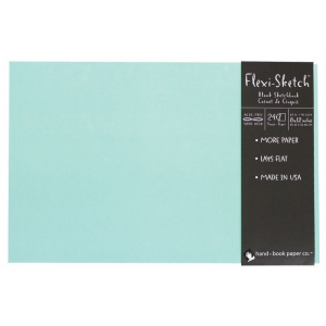 """Hand Book Journal Co.™ Flexi-Sketch™ Soft-Cover Sketchbook 8"""" x 12"""" Landscape Pool; Color: Blue; Quantity: 240 Sheets; Size: 8 1/2"""" x 12""""; Weight: 60 lb; (model 969175), price per 240 Sheets pad"""