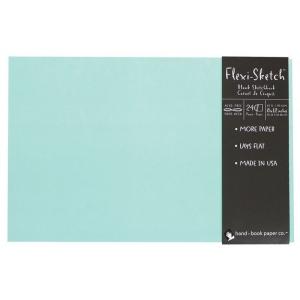 "Hand Book Journal Co.™ Flexi-Sketch™ Soft-Cover Sketchbook 8"" x 12"" Landscape Pool: Blue, 240 Sheets, 8 1/2"" x 12"", 60 lb, (model 969175), price per 240 Sheets pad"