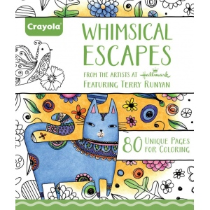 "Crayola® Aged Up Coloring Book Whimsical Escapes; Format: Book; Size: 8 1/2"" x 10""; (model 99-2021), price per each"