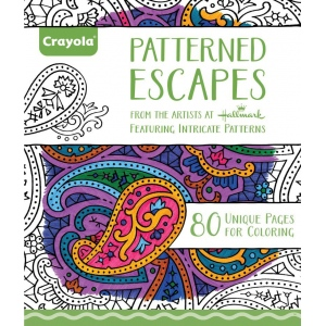 "Crayola® Aged Up Coloring Book Patterned Escapes; Format: Book; Size: 8 1/2"" x 10""; (model 99-2022), price per each"