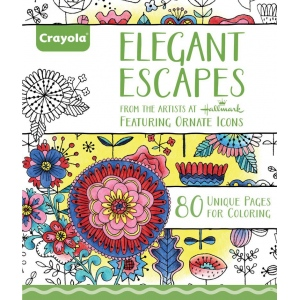 "Crayola® Aged Up Coloring Book Elegant Escapes; Format: Book; Size: 8 1/2"" x 10""; (model 99-2023), price per each"