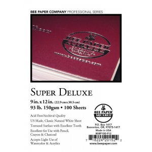 """Bee Paper® Super Deluxe Paper Sheets 9"""" x 12""""; Color: White/Ivory; Format: Sheet; Quantity: 100 Sheets; Size: 9"""" x 12""""; Type: Drawing; Weight: 93 lb; (model B808P100-912), price per 100 Sheets"""