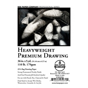"""Bee Paper® Heavyweight Premium Drawing Roll 36"""" x 5yd; Format: Roll; Size: 36"""" x 5 yd; Type: Drawing; Weight: 110 lb; (model B810R-0536), price per roll"""
