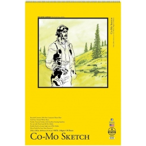 """Bee Paper® Co-Mo Sketch Pad 24"""" x 36"""": Wire Bound, White/Ivory, Pad, 30 Sheets, 24"""" x 36"""", Drawing, 80 lb, (model B820S30-2436), price per 30 Sheets pad"""