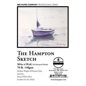 "Bee Paper® The Hampton Sketch Roll 36"" x 10yd: White/Ivory, Roll, 36"" x 10 yd, Sketching, 60 lb, (model B825R-1036), price per roll"