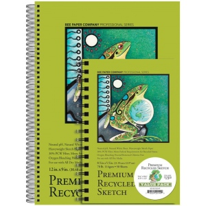 Bee Paper® Premium Recycled Sketch Value Pack; Color: White/Ivory; Format: Pad; Type: Sketching; (model B837S50-VP), price per each