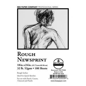 "Bee Paper® Rough Newsprint Sheets 18"" x 24"": Sheet, 100 Sheets, 18"" x 24"", Rough, Sketching, 32 lb, (model B887RP100-1824), price per 100 Sheets"