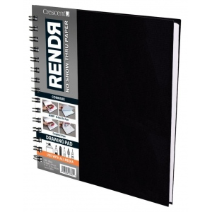 "Crescent® RENDR® All Media No Show Thru Paper Wire Bound Sketchbook 8"" x 8"": Wire Bound, White/Ivory, Book, 8"" x 8"", Smooth, Drawing, Marker, 110 lb, (model C12-00017), price per each"