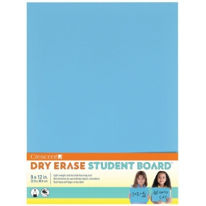 "Crescent® Light Blue Dry Erase Board: Blue, Board, 9"" x 12"", Smooth, Dry Erase, (model C12-400), price per each"