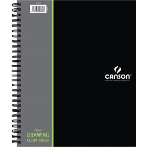 """Canson® Artist Series 9"""" x 12"""" Drawing Pad (Side Wire); Binding: Wire Bound; Color: White/Ivory; Format: Pad; Size: 9"""" x 12""""; Texture: Medium; Type: Drawing; Weight: 90 lb; (model C400059729), price per each"""