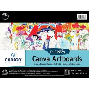 "Canson® Plein Air 9"" x 12"" Plein Air Canva-Paper Artboard Pad (Glue Bound): Glue Bound, White/Ivory, Pad, 9"" x 12"", Canvas, Canvas, 136 lb, (model C400061737), price per pad"
