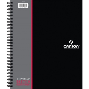 "Canson® Artist Series Universal™ 9"" x 12"" Sketch Pad (Side Wire): Wire Bound, White/Ivory, Pad, 9"" x 12"", Rough, Sketch, 65 lb, (model C400061906), price per each"