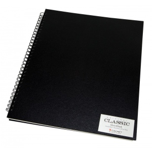 "Cachet® 14"" x 17"" Wirebound Sketchbook: White/Ivory, Book, 80 Sheets, 14"" x 17"", Sketching, (model CSW1027), price per each"