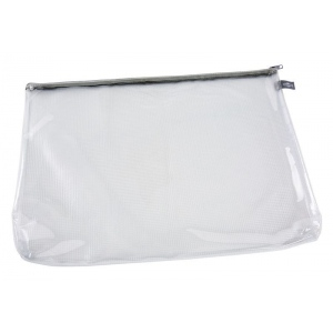 "Alvin® Clear Front Mesh Bag 12"" x 16""; Color: Black/Gray, Clear; Material: Mesh, Vinyl; Size: 12"" x 16""; (model CFB1216), price per each"