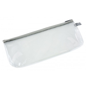 "Alvin® Clear Front Mesh Bag 5"" x 13""; Color: Black/Gray, Clear; Material: Mesh, Vinyl; Size: 5"" x 13""; (model CFB513), price per each"