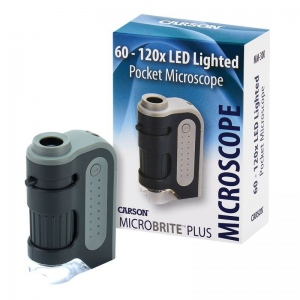 Carson® LED MicroBrite Plus™ Pocket Microscope; Magnification: 60x - 100x; Type: Pocket; (model CMM300), price per each