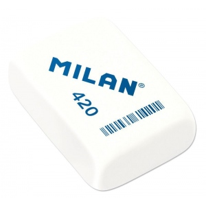 Milan® Square Synthetic Rubber Erasers: White/Ivory, 20-Box, Manual, (model CMM420), price per 20-Box box