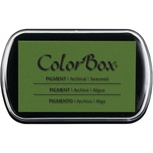 "ColorBox® Full Size Ink Pad Seaweed; Color: Green; Format: Pad; Ink Type: Pigment; Size: 2 1/2""l x 4""w x 1/4""h; (model CS15226), price per each"