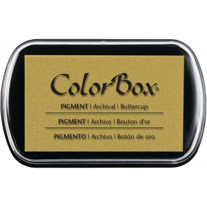 """ColorBox® Full Size Ink Pad Buttercup: Yellow, Pad, Pigment, 2 1/2""""l x 4""""w x 1/4""""h, (model CS15227), price per each"""