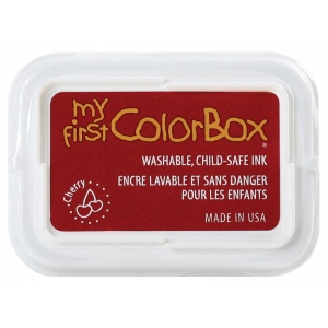 My First ColorBox® Washable Full Size Ink Pad Cherry; Color: Red/Pink; Format: Pad; Ink Type: Dye-Based; Shape: Full Size Rectangle; (model CS68051), price per each