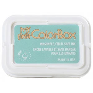 My First ColorBox® Washable Full Size Ink Pad Mint: Green, Pad, Dye-Based, Full Size Rectangle, (model CS68053), price per each