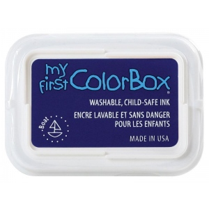 My First ColorBox® Washable Full Size Ink Pad Boat; Color: Blue; Format: Pad; Ink Type: Dye-Based; Shape: Full Size Rectangle; (model CS68054), price per each