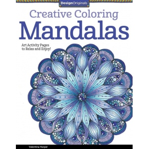 "Design Originals Mandalas Creative Coloring Books for Adults: Book, 8 1/2"" x 11"", (model DO5508), price per each"