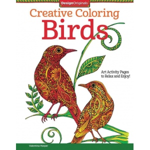 "Design Originals Birds Creative Coloring Books for Adults: Book, 8 1/2"" x 11"", (model DO5538), price per each"