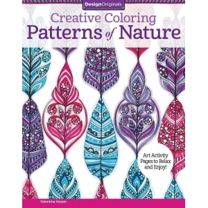 "Design Originals Patterns of Nature Creative Coloring Books for Adults: Book, 8 1/2"" x 11"", (model DO5541), price per each"