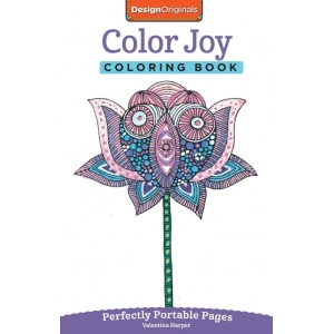 Design Originals Color Joy Mini Creative Coloring Books for Adults: Book, (model DO5566), price per each