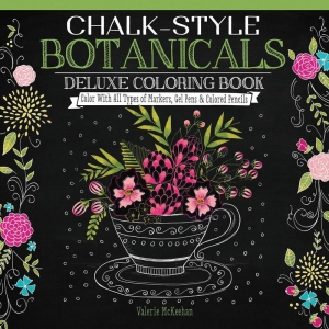 "Design Originals Chalk-Style Deluxe Coloring Book Botanicals; Format: Book; Size: 10"" x 10""; (model DO5686), price per each"