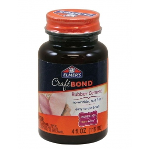Elmer's® CraftBond® Rubber Cement; Size: 4 oz; (model E425), price per each