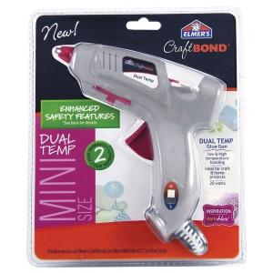 Elmer's® CraftBond® Mini Dual Temp Hot Glue Gun; (model E6049), price per each