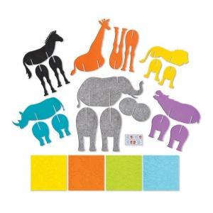 Creativity for Kids® My First Fun Felt Safari Set: 3+, Children's Art Kit, (model FC1057), price per set