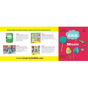 Creativity for Kids® Creativity Can® Music: 4+, Creativity Kit, (model FC3904), price per each