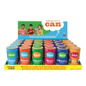 Creativity for Kids® Creativity Can® Themed Display Assortment; Age Level: 4+; Type: Creativity Kit; (model FC3910D), price per each