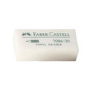 Faber-Castell® Vinyl Eraser Display: White/Ivory, Can, Manual, (model FC800070D), price per each