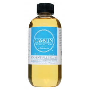 Gamblin Solvent-Free Fluid Medium 8.5oz/250ml: 8.5 oz, (model GB02608), price per each