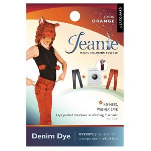 Jacquard Jeanie Orange Denim Dye: Orange, Packet, Denim Dye, (model JJD002), price per each