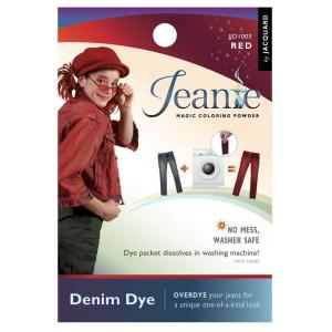 Jacquard Jeanie Red Denim Dye; Color: Red/Pink; Format: Packet; Type: Denim Dye; (model JJD003), price per each