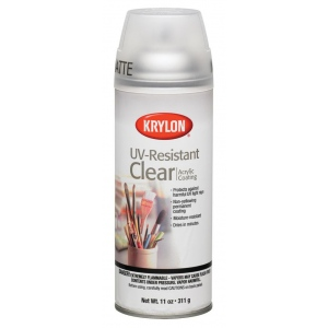 Krylon® UV-Resistant Clear Matte Spray; Finish: Matte; Type: Varnish & Specialty; (model K1309), price per each