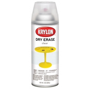 Krylon® Clear Dry Erase Spray Paint; Color: Clear; Format: Spray Can; Size: 12 oz; Type: Dry Erase; (model K3940), price per each
